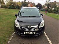 2012 Vauxhall Meriva -- CDTi 16v SE 5dr -- Automatic --- Trim Leather --- Low Miles --- shiny black