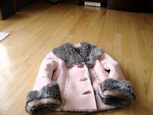 Moffi Intnl. Pink Suede Leather Faux Fur Lined Aspen Coat -MINT Kitchener / Waterloo Kitchener Area image 3