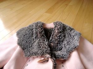 Moffi Intnl. Pink Suede Leather Faux Fur Lined Aspen Coat -MINT Kitchener / Waterloo Kitchener Area image 2