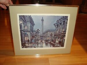 Framed Print by Maurice Legendre - Paris Place Vendome Kitchener / Waterloo Kitchener Area image 1
