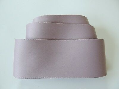 "Taupe Blush 1 1/2"" 38mm Double Faced Satin Ribbon Wedding Gown Sash Matte Finish"