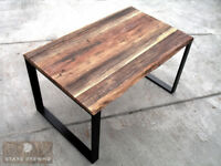 Old wood / antique reclaimed timber oak table 140x90