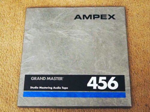 """One NOS Ampex 456 10.5"""" - 1/4"""" inch Reel to Reel Audio Tape Pancake Only"""