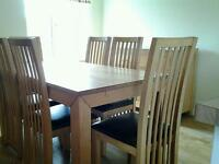 Dining room furniture oak table chair sideboard
