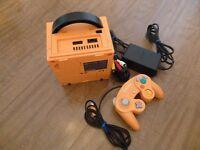Rare orange Nintendo Gamecube console