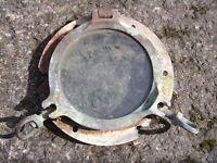 Ships port hole brass glass steel backing