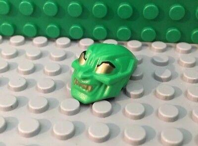 LEGO Spiderman - Green Goblin Mask with Gold Eyes and Teeth spd006 4852, - Lego Masks