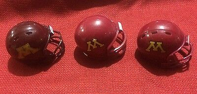 Riddell Pocket Pro Football Helmet Lot Of 3 Minnesota Golden Gophers 3 Dif Style