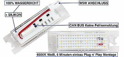 2x TOP LED SMD Kennzeichenbeleuchtung Opel Astra H alle Modelle XL