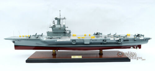 French Aircraft Carrier Charles de Gaulle - Handcrafted Model Ship Scale 1/287