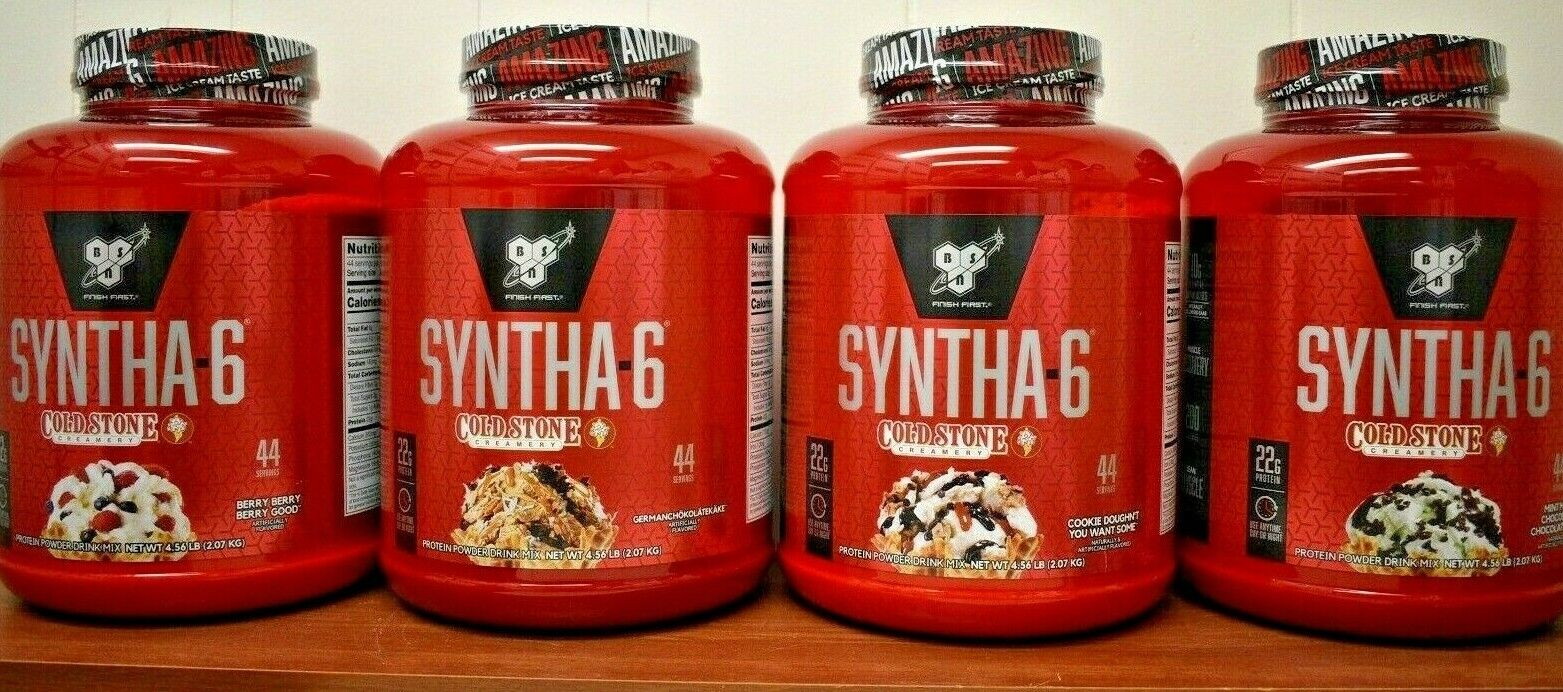 BSN Syntha-6 Cold Stone Creamery Protein Powder 4.56 LB 2.07