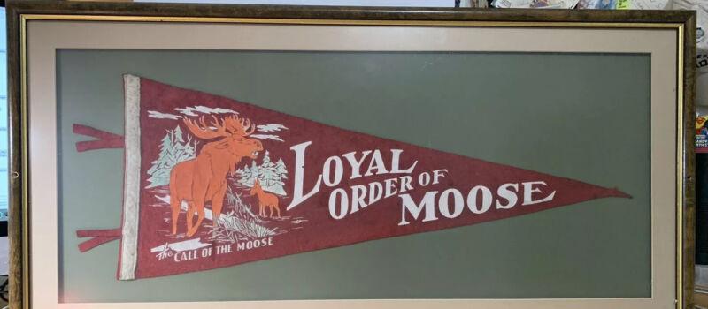 Antique or Vintage Loyal Order of Moose Banner UNFRAMED Rare Cool Old TSL