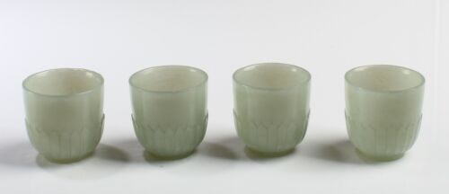 Four Chinese Jade Wine Cups