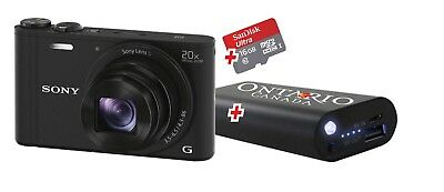 Sony Cybershot DSC-WX350 Digitalkamera Kamera Schwarz Full HD Gratis Reise-Set