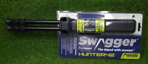 """Swagger HUNTER42 Adjustable Shooting Rifle Bipod 9 3/4"""" - 41.5"""" - SWAG-BP-HT42"""