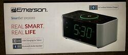 Emerson Smart Set ER100202 Bluetooth Alarm Clock Wireless Charging
