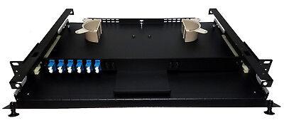 (12 Fiber 1RU Rack Mount FDP Patch Only w/ 6 LC/UPC Duplex Adapters)