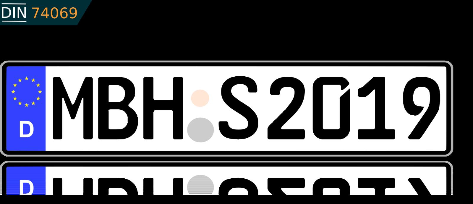 1 KFZ Kennzeichen Autokennzeichen Wunschkennzeichen Nummernschild Fahrradträger