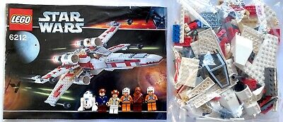 Lego Star Wars 6212 X-Wing Fighter 100% Complete Minifigs & Instruction Manual