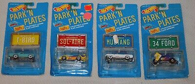Hot Wheels Lot  PARK 'N PLATES -T-Bird-Sol Aire-34 Ford-Mustang