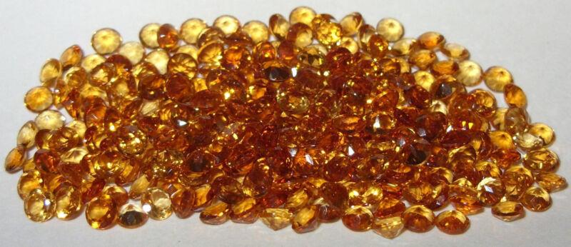 4mm Beautiful Color Brazil Gold Citrine Brilliant Round Cut