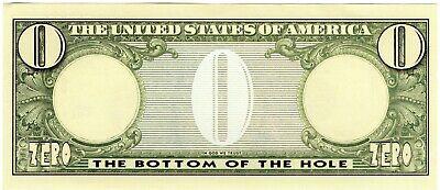 Big Fat Zero Novelty Bank Note Nothing Nada Dollars Laugh unusual unique gift UK