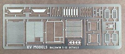 ETCHED DETAIL SET FOR BALDWIN S-12 LOCOMOTIVE HO SCALE KV MODELS KV-903H