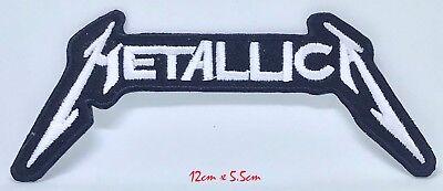 Metallica American Heavy Metal Banda Blanco Bordado Hierro en Parche para Coser