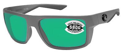 838c0d217 Costa Del Mar Motu Matte Gray Frame Green Mirror 580G Glass Polarized Lens