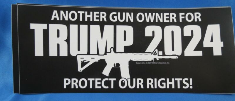 WHOLESALE LOT OF 20  ANOTHER GUN OWNER FOR TRUMP 2024 STICKERS 2ND AMENDMENT GOP