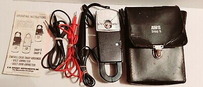 Sperry Instruments Snap 6 50-400 Hz Volts Ohm 150 Ammeter Vintage Japan W Bag