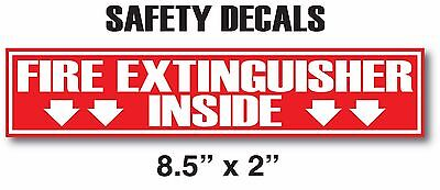 Fire Extinguisher Inside V2 Sticker Decals Inspection Or Hose Alarm Smoke Fdc
