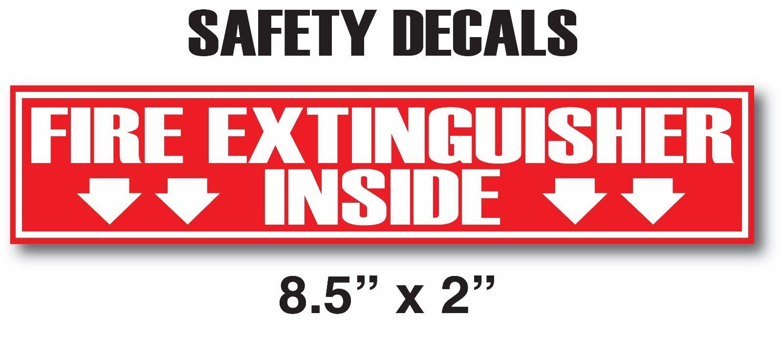 FIRE EXTINGUISHER INSIDE V2 Sticker Decals Inspection or Hos