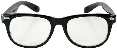 50'S RETRO NERD BLUES BROTHER CLARK KENT LIBRARIAN COSTUME GLASSES BLACK FRAME](Librarian Costume)