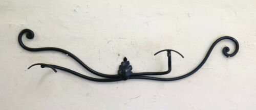 Coat Hangers Vintage Wrought Iron Hanger Wall 2 Hooks Old CH7