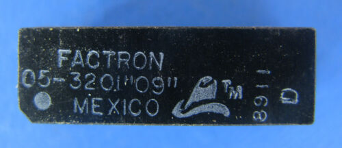 """**LOTS of 50/OEM TUBE** FACTRON 05-3201 """"09"""" SPST 5VDC PC MOUNT REED RELAYS"""