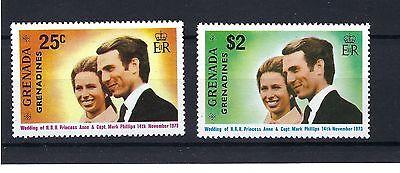 GRENADA 1973 SG582-583 Royal Wedding Set Mint MNH