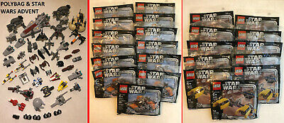Lego Star Wars Advent Minifigs, Minifigures, Polybags, Microfighters