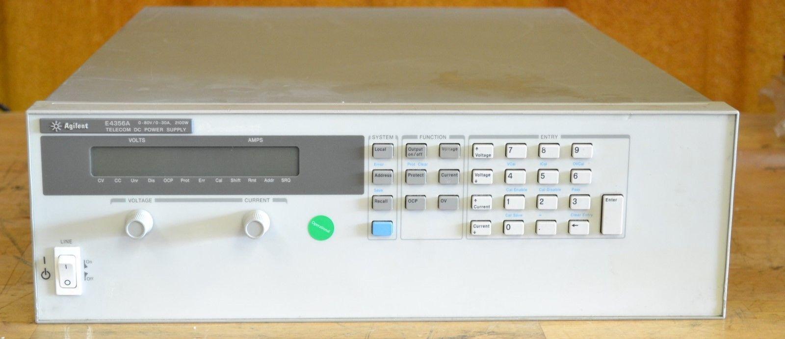 Hp Agilent E4356a Telecom Dc Power Supply 80v 30a Ebay 0 30 Vdc Stabilized With Current Control 0002