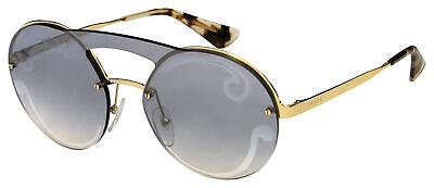 Prada Sunglasses PR 65TS ZVN0D0 36 Gold | Silver Mirror Blue Gradient Lens
