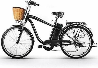 """NAKTO Electric Bicycle 26"""" Cargo Electric Bike with 250W36V10AH Lithium Battery"""