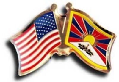 Wholesale Pack of 50 USA American Tibet Friendship Flag Hat Cap lapel Pin