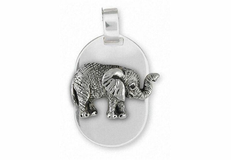 Elephant Jewelry Sterling Silver Elephant Pendant Handmade Wildlife Jewelry EL5-