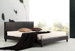 NEW ON SALE - King PU Leather Bed Frame Black Silverwater Auburn Area Preview