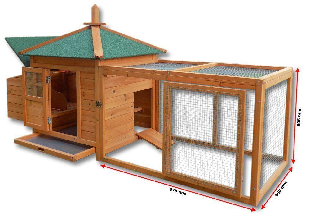 poulailler clapier cage poule xl en bois cabane pour lapin ou poule eur 152 90. Black Bedroom Furniture Sets. Home Design Ideas
