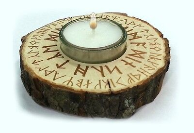 Teelicht - Runenspruch Deko Wikinger Walhalla Vikings Thor Odin Asgard