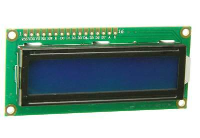 2 Line X 16 Character Lcd Display With Blue Led Backlite 30455 Op
