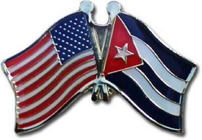 Wholesale Pack of 50 USA American Cuba Friendship Flag Bike Hat Cap lapel Pin