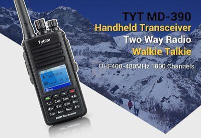 Neu! TYT MD-390 UHF Digital DMR IP67 Wasserdicht 1000CH Dual Band Hand-Funkgerät