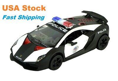 Lamborghini Sesto Elemento, Police Car, Diecast Model Toy Car, 5'', 1:38 Scale Lamborghini Police Car